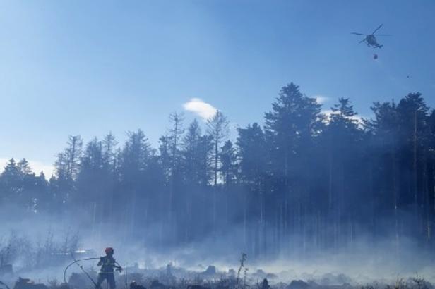 Poblíž Černovic na Blanensku hořel les. Hasiči zasahovali i na dalších místech