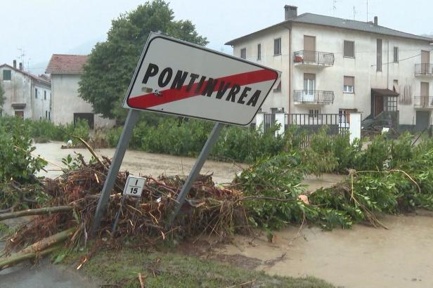 Italskou Ligurii zasáhly rekordní srážky, způsobily záplavy a sesuvy půdy