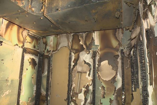 Škody po požáru v hotelu Thermal