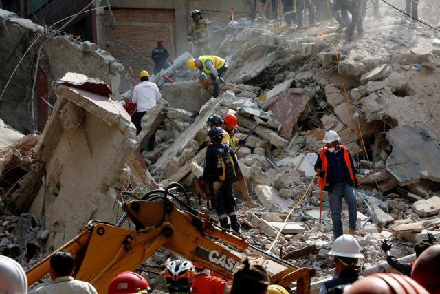 Následky zemětřesení v Mexiku