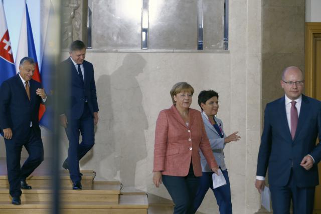 Jednání premiérů V4 s německou kancléřkou