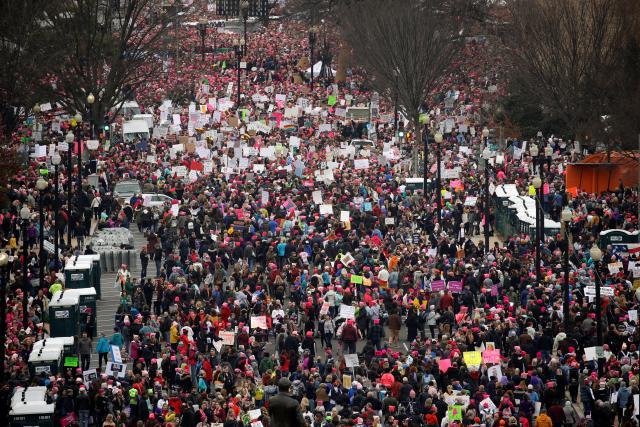 Pochod za práva žen v hlavním městě Washingtonu