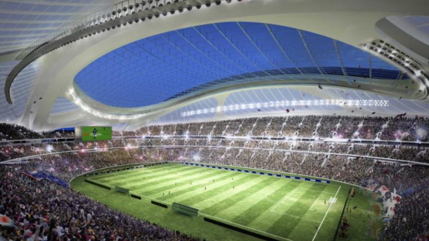 Video Japonci zlevňují olympijský stadion