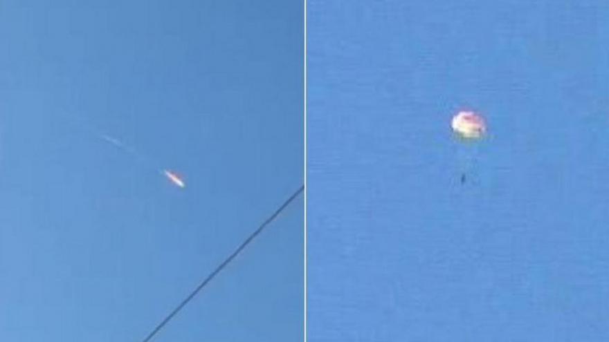 Video Unidentified warplane has reportedly fallen near Turkey's Syrian border