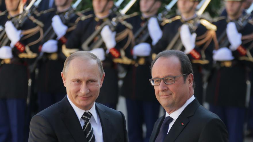 Video Putin s Hollandem o terorismu a boji proti IS