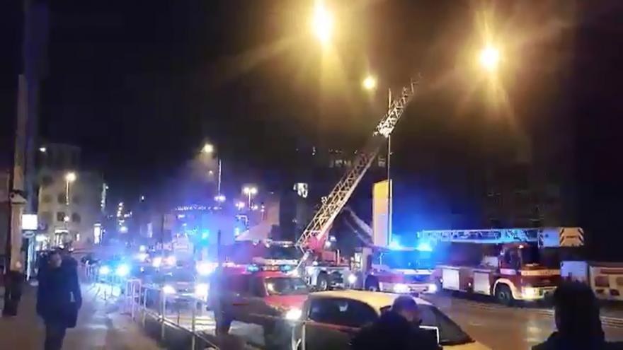 Video iReportér Tomáš Racek: Požár Národního muzea