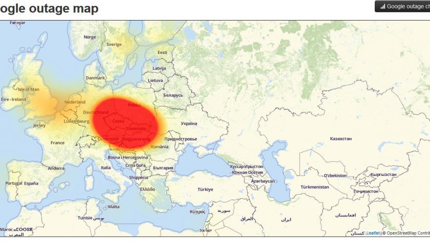 Video O pádu serverů Google