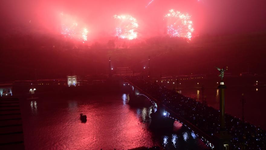 Video novoroční ohňostroj