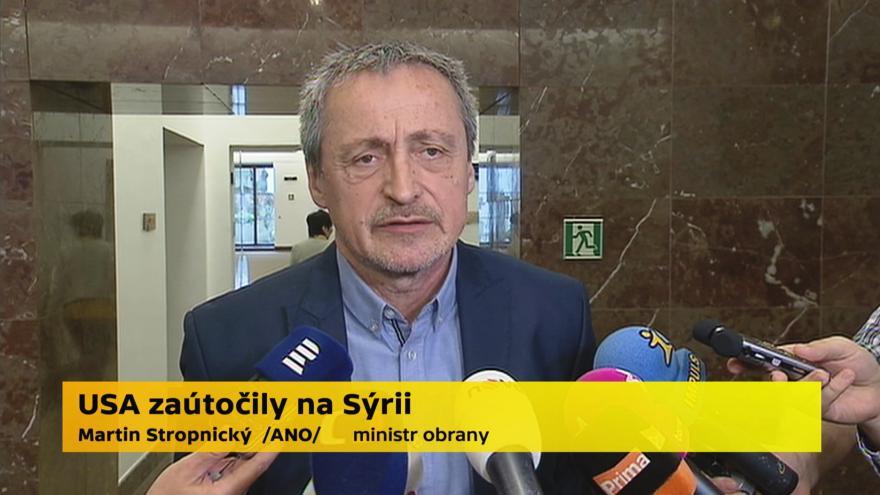 Video Martin Stropnický, ministr obrany (ANO)