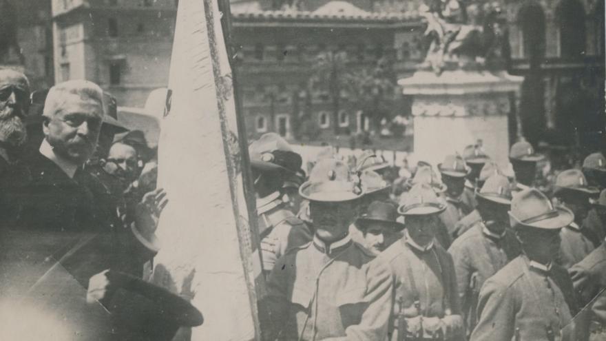 298277bff9 Do Říma se po sto letech vrátili českoslovenští legionáři. Tehdy se  vyznamenali v bitvě na Piavě — ČT24 — Česká televize