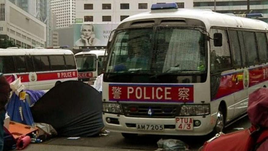 Video Hongkongská policie zatýkáním ukončila protesty