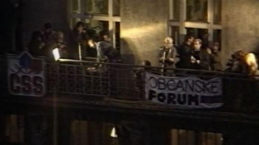 Video Televizní noviny 24. listopadu 1989