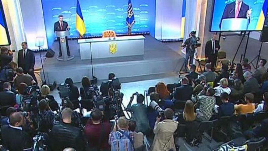 Video Ukrajina by se podle Porošenka měla stát brzy členem EU