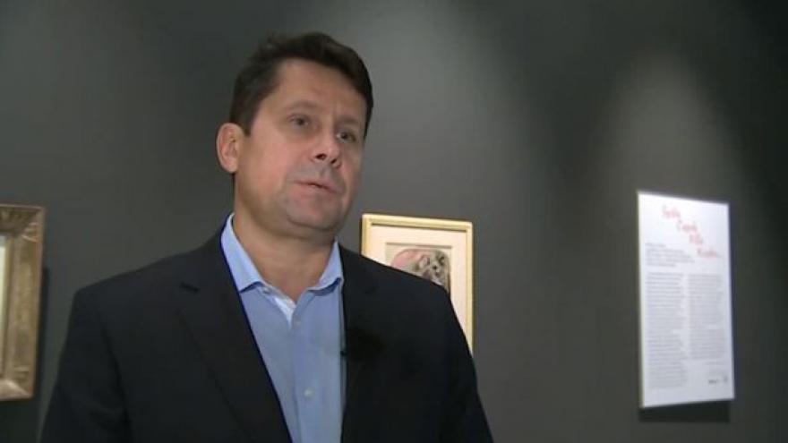 Video O obrazech na výstavě hovoří Vladimír Lekeš