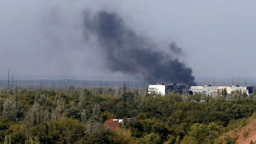 Video V Doněcku opět zněly výbuchy