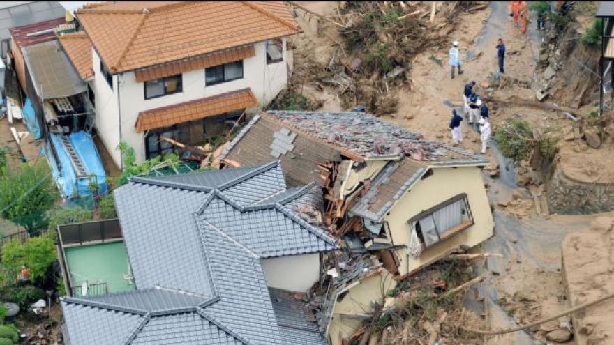 Video Hirošima bojuje s nánosy uvolněné zeminy