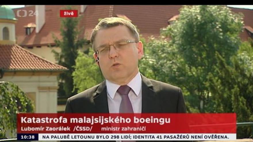 Video Zaorálek - na palubě nebyli žádní Češi