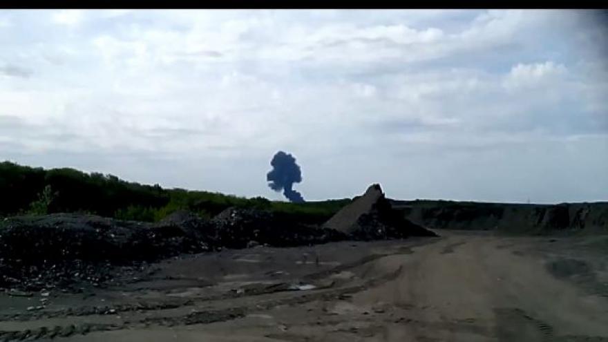 Video Záběry výbuchu malajsijského letadla