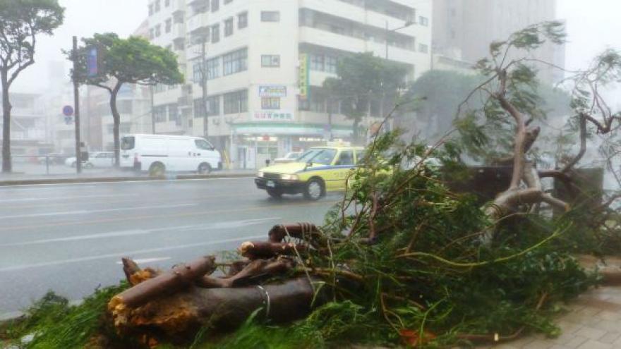 Video BEZ KOMENTÁŘE: Japonské ostrovy pustoší tajfun Neoguri