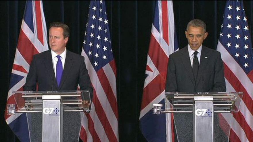 Video Barack Obama a David Cameron po summitu G7