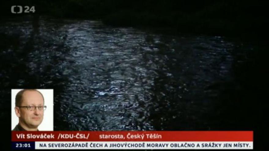 Video Starosta Českého Těšína k situaci na Olši ve 23:00