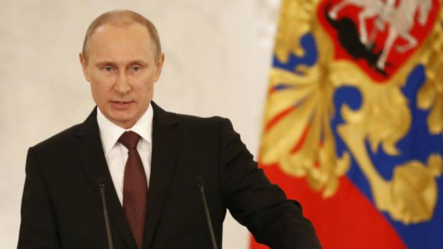 Video Vladimir Putin k poslancům Dumy o situaci na Ukrajině a Krymu