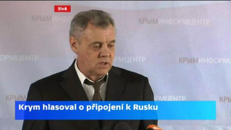 Video Brífink komise po sečtení poloviny hlasů v krymském referendu