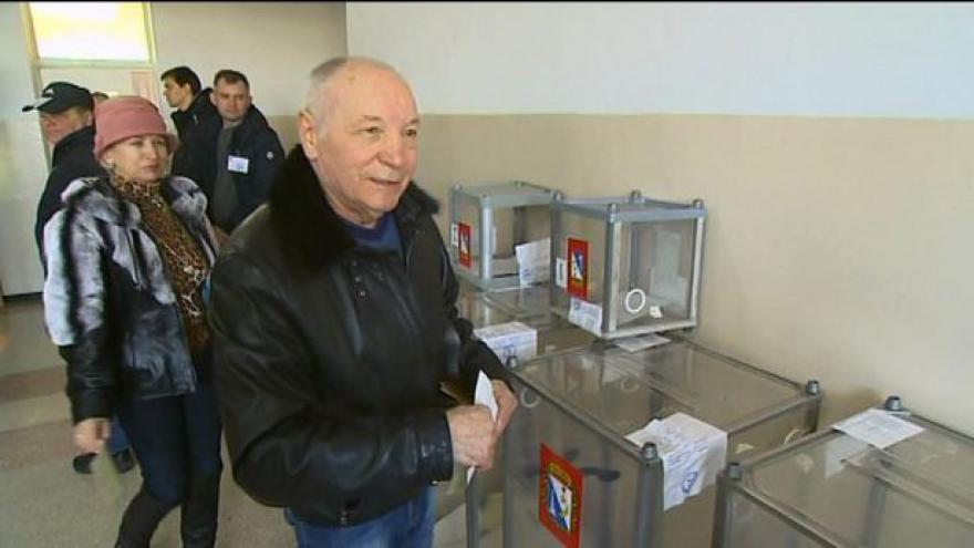 Video Očima zpravodaje ČT: Krymští Rusové slaví referendum