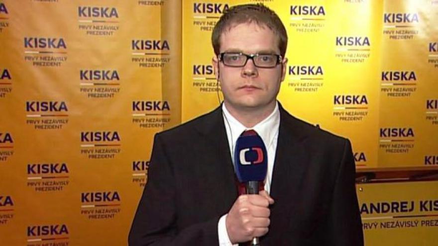 Video Vstup Lukáše Mathého z Bratislavy po uzavření volebních místností