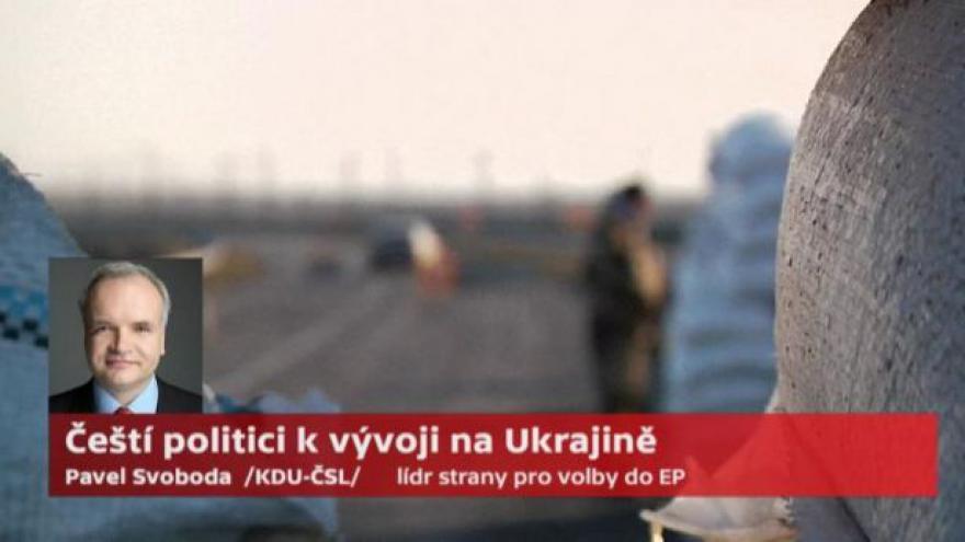 Video Pavel Svoboda (KDU-ČSL): Referendum na Krymu nebude legitimní