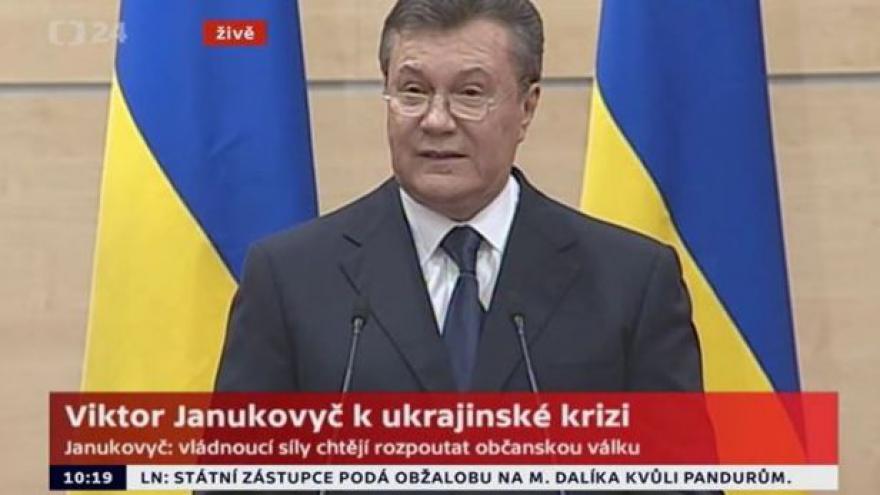 Video Janukovyč: Jsem živ a stále jsem ukrajinský prezident