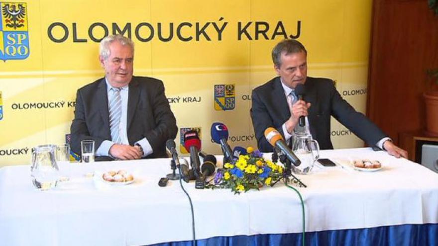 Video Prezident Miloš Zeman po návštěvě Olomouckého kraje