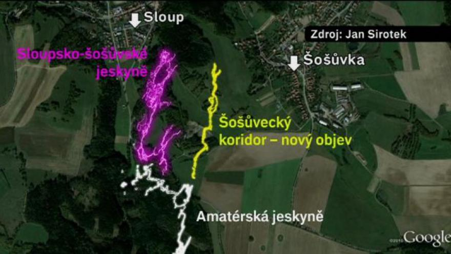 Video Speleologové zkoumají novou jeskyni v Moravském krasu