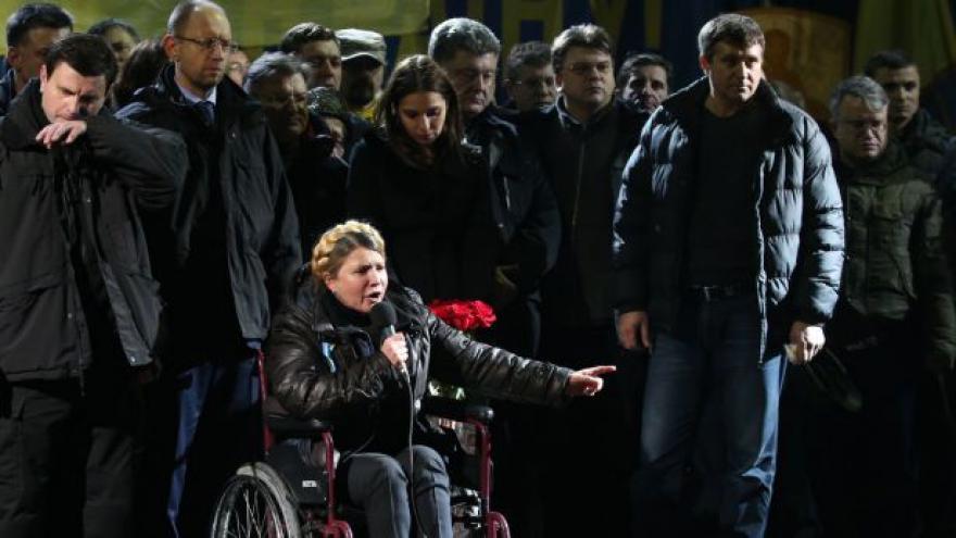 Video Julija Tymošenková promluvila k Majdanu