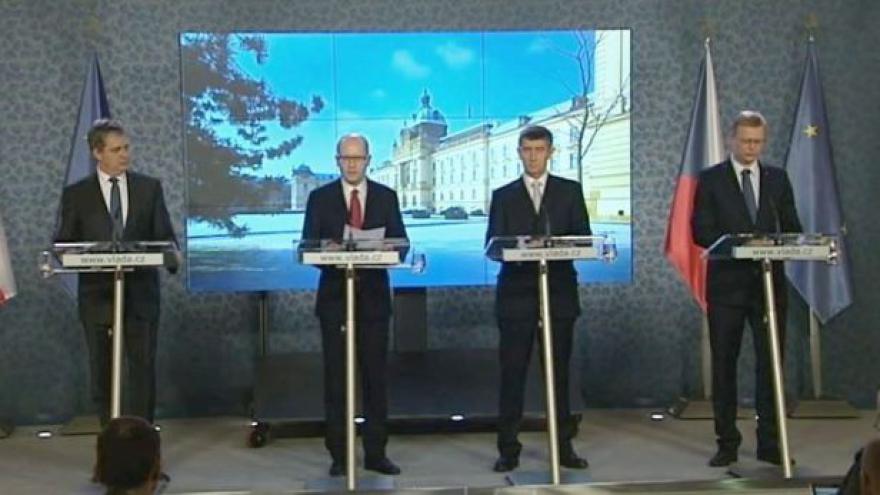 Video Brífink po první schůzi Sobotkovy vlády