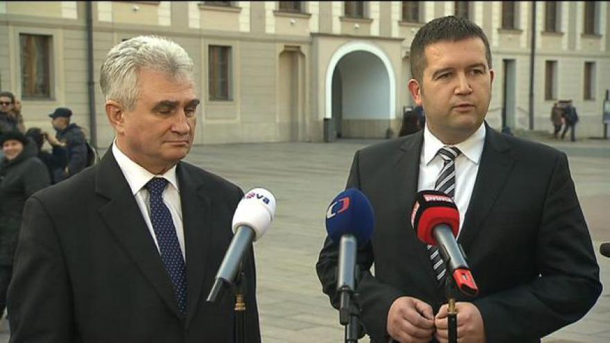 Video Štěch: Zeman má k některým kandidátům na ministry připomínky