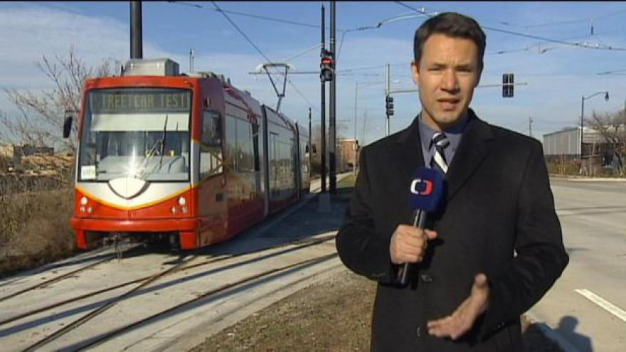 Video První česká tramvaj ve Washingtonu se vydala na testovací jízdu