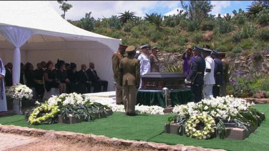Video Události o pohřbu Nelsona Mandely