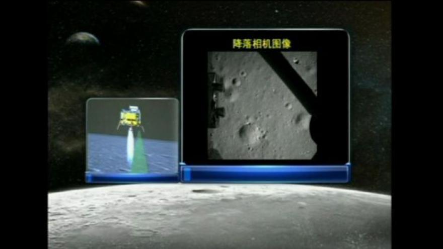 Video Přistání prvního čínského modulu na Měsíci