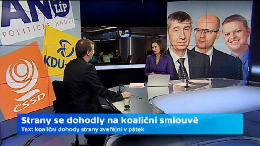 Video Rozhovor s Lubomírem Zaorálkem a Petrem Honzejkem o jednání koalice