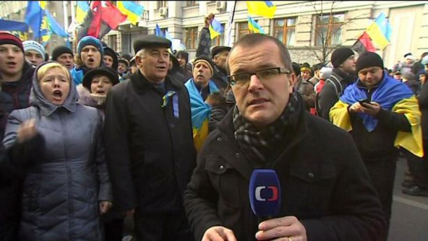 Video Josef Pazderka natáčel v bouřícím Kyjevě