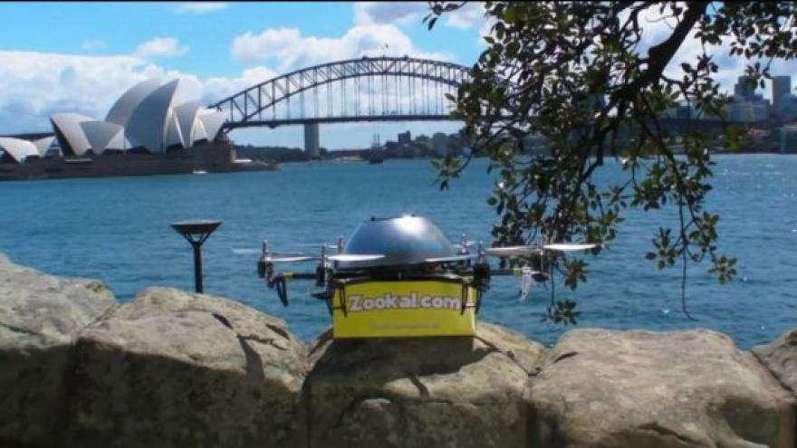Video Doručování balíků pomocí bezpilotních vrtulníků