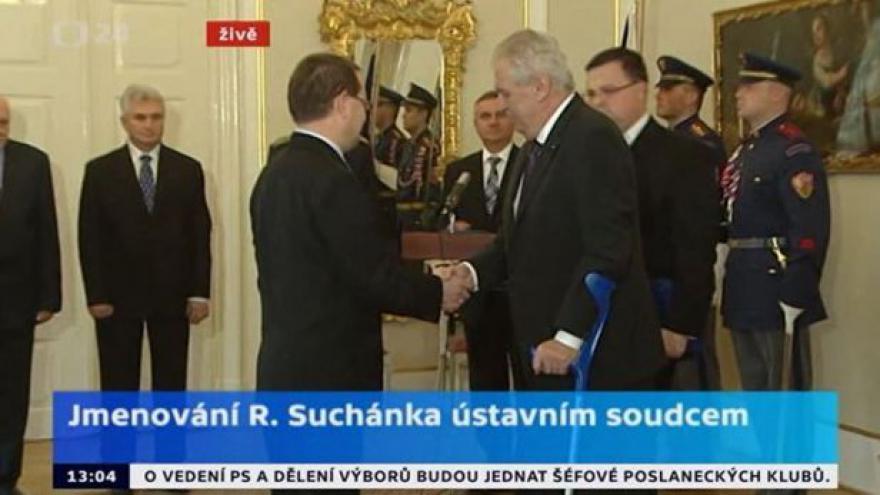 Video Jmenování R. Suchánka ústavním soudcem