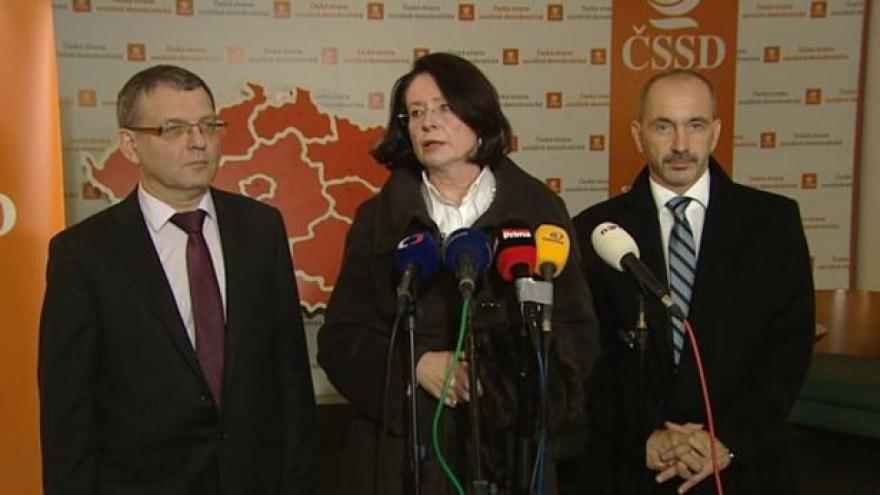 Video Brífink ČSSD a ODS po jednání o uspořádání sněmovny