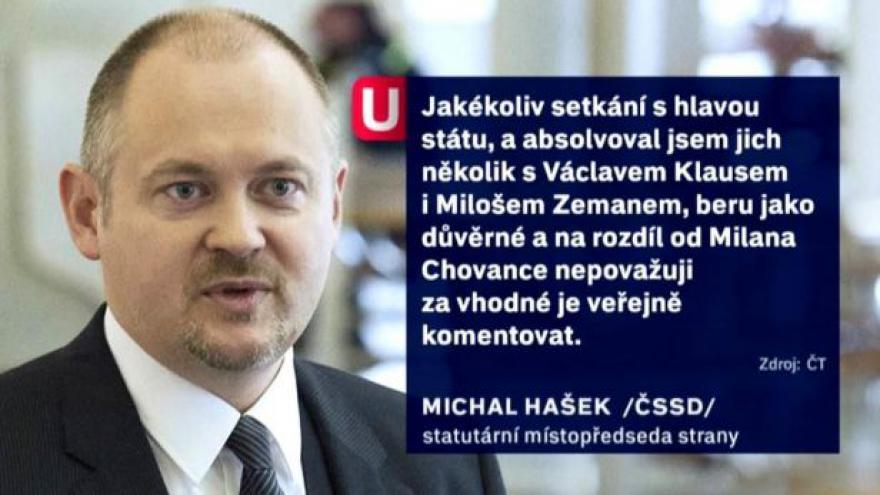 Video Události ČT o situaci v ČSSD po lánské schůzce