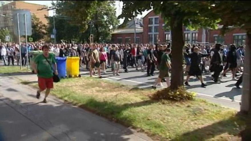 Video V Ostravě vypukla protiromská demonstrace