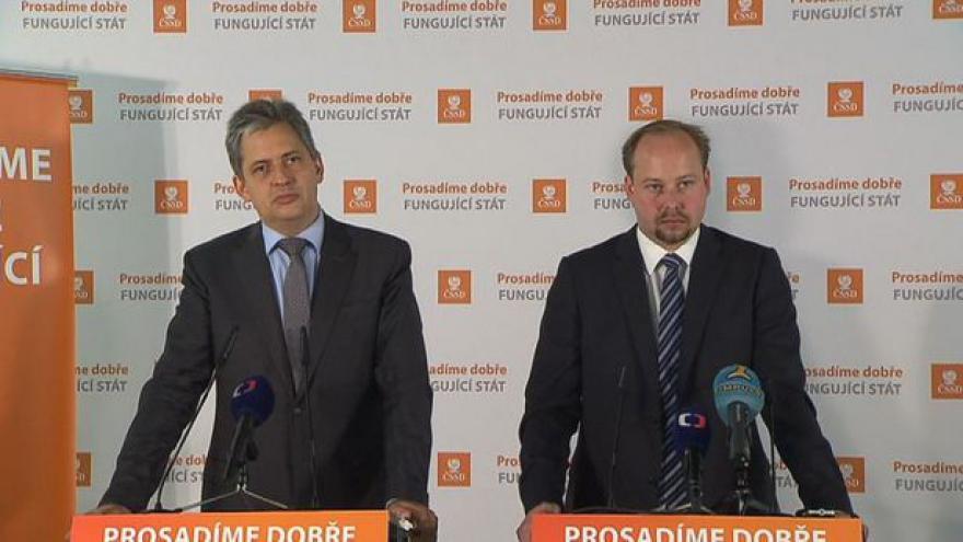 Video Brífink ČSSD ke změně pravidel pro exekuce