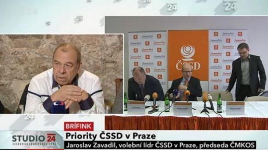 Video Brífink ČSSD k představení volebních priorit pro Prahu