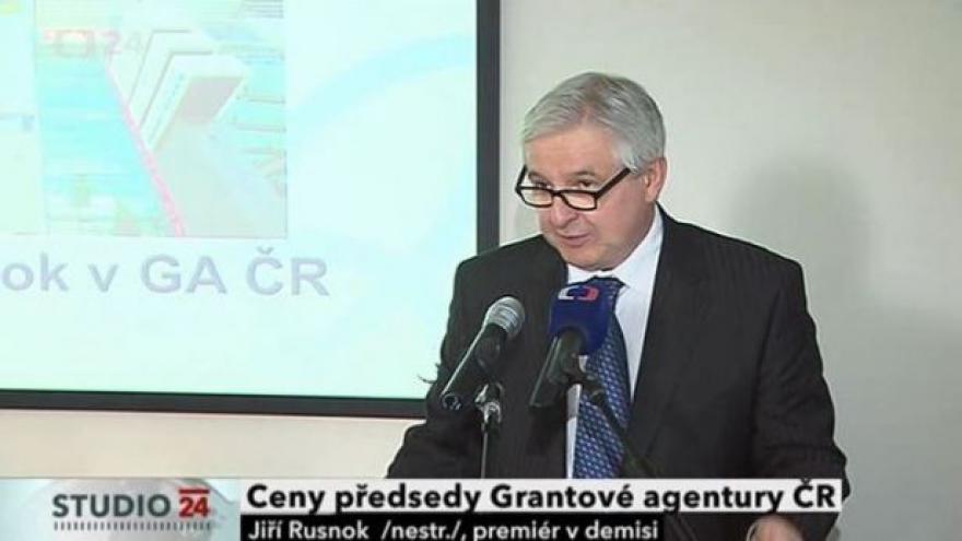 Video Projev premiéra Rusnoka při předání Ceny předsedy Grantové agentury ČR