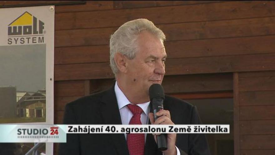 Video Projev Miloše Zemana k zahájení Země živitelky